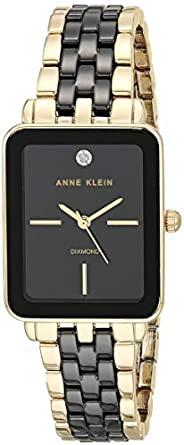 Anne Klein 安妮克莱因 女式正品钻石表盘陶瓷手链手表 AK/3668