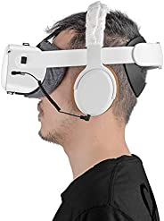 立体声低音 VR 耳机专为 Oculus Quest 2 和 Oculus Rift S 定制 - 短弹性线舒适垫和套
