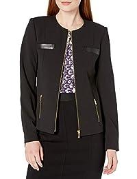 Calvin Klein 女士拉链细节夹克