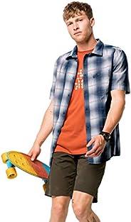 Jack Wolfskin Hot Chili 衬衫 M,男士衬衫,适合旅行和休闲,舒适的男士格子衬衫,格子衬衫,棉质衬衫,适合*热的天气