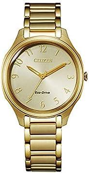 Citizen 西铁城 女式光动能金色不锈钢手镯手表