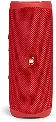 JBL FLIP5 蓝牙扬声器 IPX7防水/ USB Type-C充电/搭载无源散热器/便携式 红色 JBLFLIP5RED