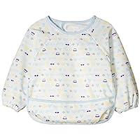 【Amazon.co.jp限定】DISNEY 長袖圍裙 A2CA1 [対象] 6ヶ月 ~ 48ヶ月 藍色 90~95