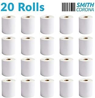 Smith Corona - 20 卷 4x6 直接热标签 1 英寸(约 2.54 厘米)核心上 - 250 张标签/卷 - 兼容 Rollo & Zebra