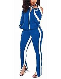 TOPONSKY 女式休闲2件套长裤套装运动服运动服