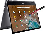 Acer 宏碁 Chromebook Spin 713 13.5 英寸 2K 触摸屏二合一笔记本电脑,英特尔四核 i5-10210U(Beats i7-7500U),8GB DDR4 内存,128GB PCIe SSD,