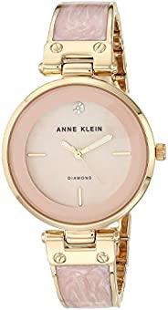 Anne Klein 女士镶钻表盘手镯手表