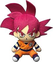 Great Eastern Entertainment SSGSS Goku 坐姿毛绒玩具 7 英寸