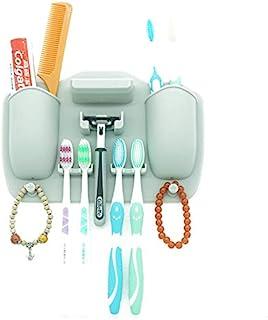 Smiling Face 硅胶防水牙刷架/剃须刀支架,适用于小型洗漱用品、硅胶洗漱用品、淋浴和浴室。 采用硅胶握柄技术(L)