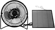 4.5 W 6 英寸 USB 风扇,太阳能板驱动迷你便携式风扇,用于冷却通风家庭户外旅行