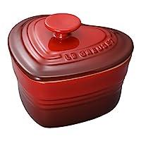 Le Creuset 酷彩 耐热容器 心形彩陶容器 带盖子 樱桃红 耐热耐冷 可使用微波炉&烤箱