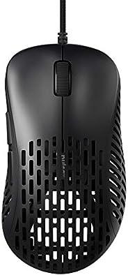 Pulsar 游戏齿轮 - Xlite 48 克超轻性能轻质人体工学游戏鼠标 20000 DPI 光学传感器 PAW3370 弹力抓握带和额外脚 超值装 [ 黑色 ]