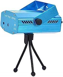 QIroseonly LED 迷你舞台灯激光投影仪俱乐部 Dj 迪斯科酒吧舞台灯,自动闪光舞台投影灯带三脚架,适用于迪斯科灯俱乐部派对(蓝色)