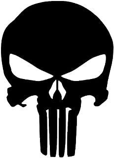 惩罚者骷髅乙烯基贴纸贴花(12.76 厘米 x 10.16 厘米,黑色)(原创版)
