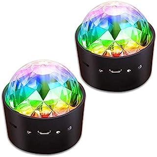 Wireless Disco 球灯电池供电声控 LED 派对频闪灯迷你便携 RGB DJ 舞台灯带 USB 2 件装 WM-BL1