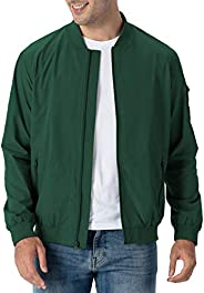 Rdruko 男式轻质飞行员夹克休闲学院飞行风衣运动夹克