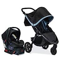 Britax B-Free 旅行系統帶 B-Safe Ultra 嬰兒汽車*座椅 - 適合新生兒至65磅(約1.8公斤)嬰兒,霜凍