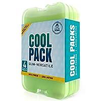 Healthy Packers 午餐盒冰袋 - 冷凍包 - 原裝冷藏包   纖薄持久的冰包 適合您的午餐或冷藏包 * 4- Pack 685946