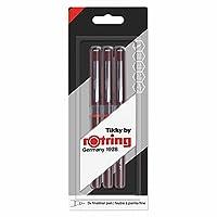 rOtring 1904780 Tikky 图形麦克笔套装 (3 件) Fineliner-Stifteset Blister 0,30 mm, 0,50 mm, 0,70 mm 黑色