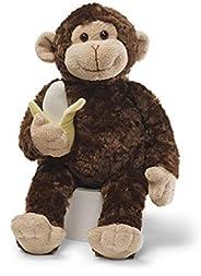 GUND Mambo 猴子填充动物毛绒玩具,棕色,14 英寸