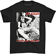 GG ALLIN You Give Love A Bad Name 朋克摇滚 T 恤  黑色 Large