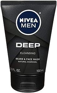 Nivea 妮维雅男士深层洁面胡须和洗面乳 3.3 盎司(100 毫升)