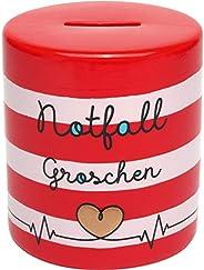 GRUSS & CO 46648 紧急情况,多洛米特,高 10 厘米存钱罐,红色,白