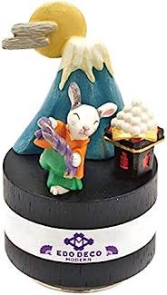 丸和贸易 摆件 EDO DECO 月见音乐盒 十五夜 6.5×6.5×11厘米 (曲名:兔子) 400874901