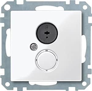 Merten 296919 扩音器插座插头,极地白光,系统 M
