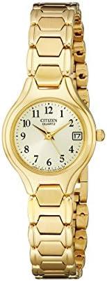 citizen women's eu2252-56p gold-tone stainless steel w
