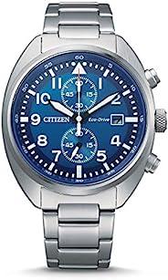 Citizen 西铁城 男式计时光动能手表不锈钢表带 CA7040-85L