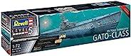 Revell 威望 05168 Platinum Edition U-Boot US Navy Gato Class Submarine 船舶模型套装 1:72 1.32 米原创模型套件 适用于专业人士,带照片零件,无上