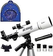 Kenko 天文望远镜 SKY WALKER SW-0 折射式 口径50毫米 天体与地面两用 白色 11161