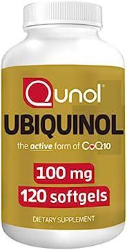 Qunol 100 毫克泛醇 能量生产 补充剂 辅酶Q10 120 粒