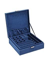 SONGMICS 珠宝盒,深蓝色