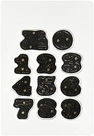 Sizzix 657841 移动器和形状磁骰子套装,Tim Holtz 设置货运模板编号,11 件装,黑色