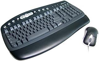 Microsoft 微软 Black Value Pack 2.0 - 键盘 - PS/2,USB - 鼠标 - 黑色 - 英语 - 欧洲 - OEM (3 件装)