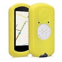 kwmobile 保护套兼容 Garmin Edge 1030/1030 Plus - 软硅胶自行车 GPS 导航系统保护套 - 黄色