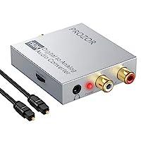 PROZOR 数字转换器 192kHz DAC 对应音量控制 数字同轴 SPDIF Toslink