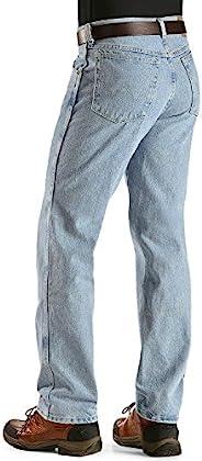 WRANGLER 男士耐磨经典修身牛仔裤  Rough Wash Indigo 38W x 30L