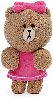 GUND LINE Friends 巧克力懸掛毛絨填充動物熊,粉色,6 英寸(約 15.2 厘米)