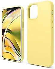 elago 兼容 iPhone 12 手機殼,iPhone 12 Pro 手機殼,iPhone 12 液體硅膠手機殼,適用于 iPhone 12 Pro 6.1 英寸 [黃色] - 全身保護(屏幕和相機保護)