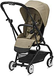 CYBEX Eezy S Twist 2 婴儿车,360° 旋转座椅,父母或前向,单手倾斜,紧凑折叠,轻便旅行推车,适合 6 个月以上的婴儿,经典米色