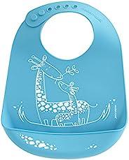 modern-twist BB10 防水硅胶可调式吊桶婴儿围兜 微笑长颈鹿