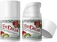 LilyAna Naturals 眼霜,适用于黑眼圈和肿大的双眼,阻止衰老,可减少细纹和皱纹,玫瑰果和芙蓉植物-1.7盎司,48克-2瓶