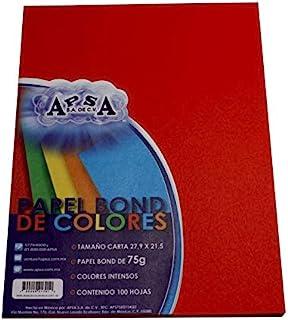 uBoxes粘合纸,信纸大小,每包100张,每盒20包,红色