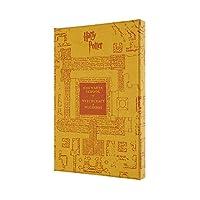 Moleskine 笔记本 哈利·波特 限定版 笔记本 硬皮套 大尺寸 琥珀黄色
