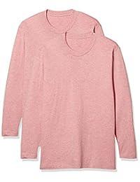 [Seshiel]男式纯棉长袖圆领T恤(同色2件套)简约 腋下无缝 KP-753