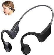 DGwear 开放式耳无线骨传导耳机蓝牙 5.0 带运动腰带,IP67 等级钛,轻质防汗,适合跑步驾驶骑行会议