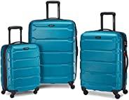 Samsonite 新秀丽 Omni Pc Hardside 可扩展行李箱,带万向轮,Caribbean Blue,3-Piece Set (20/24/28)